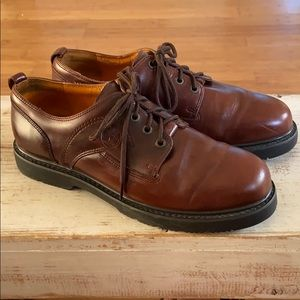 Timberland Waterproof brown leather loafers.